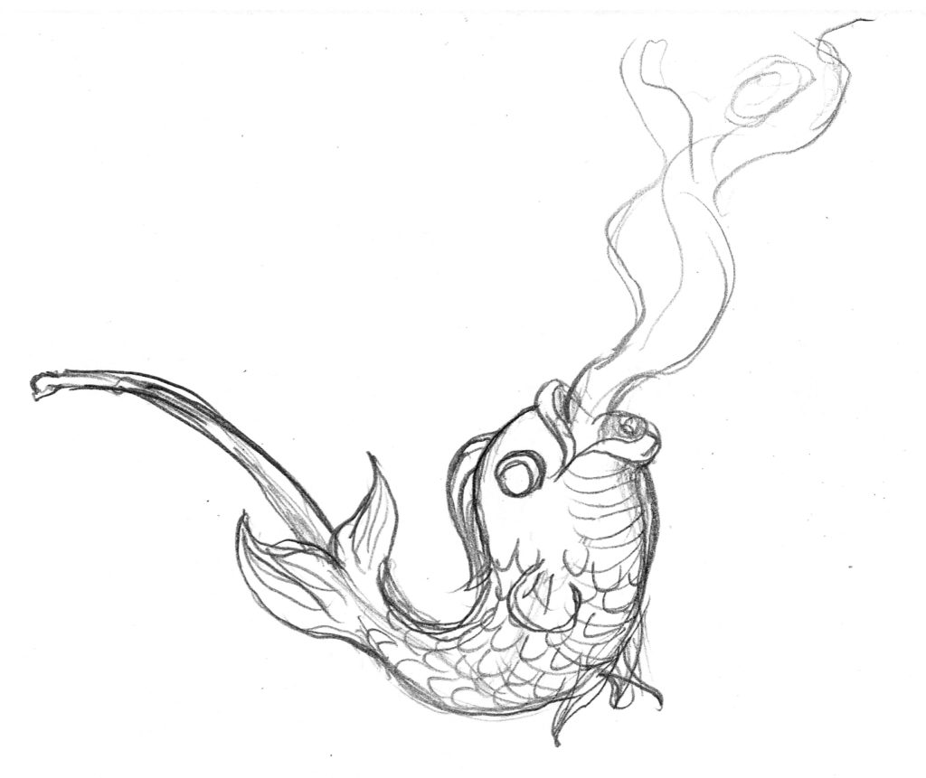 fish pipe drawing