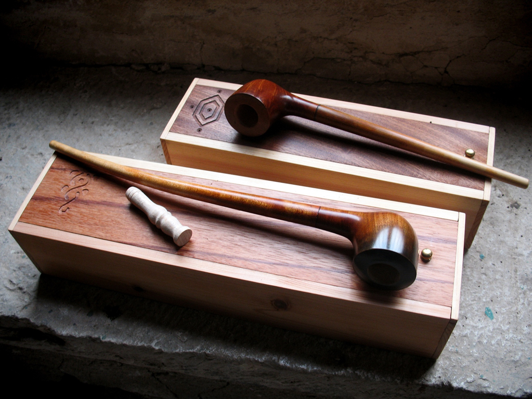 Pipes with deluxe cases