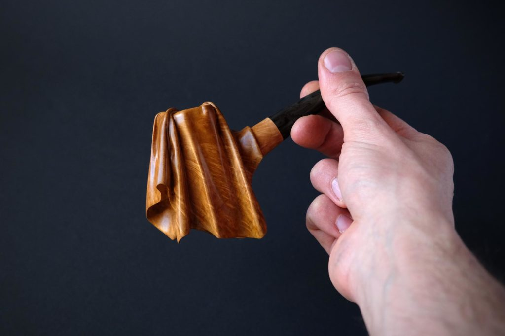 the veiled pipe, a carved tobacco pipe