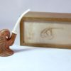 bird of prey carved pipe with case